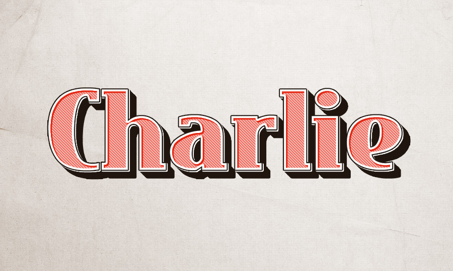 Charlie Text Effect Mockup