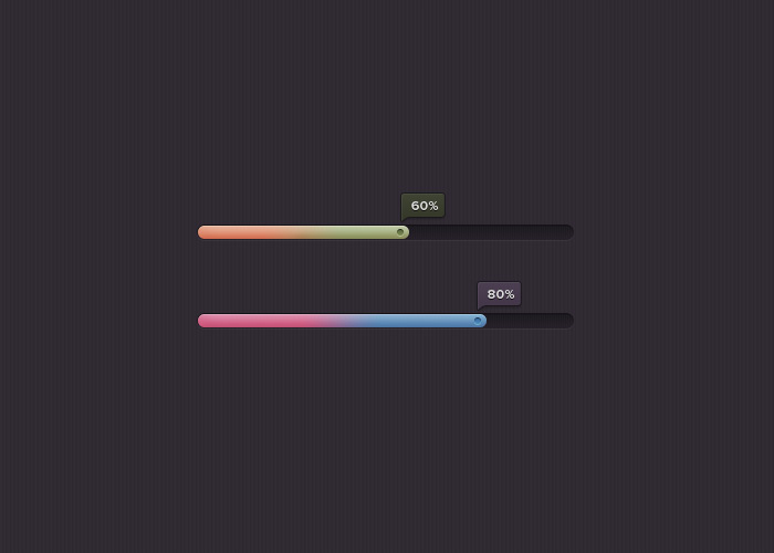 colorful progress bar psd file