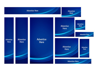 blue advertise web banners pack