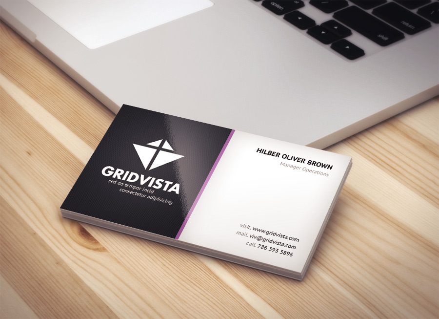Vibrant modern business card psd file