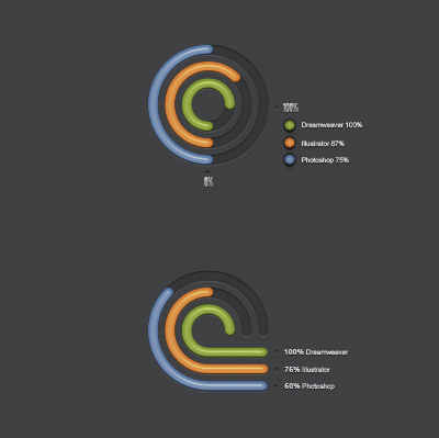 radial creative diagram style psd