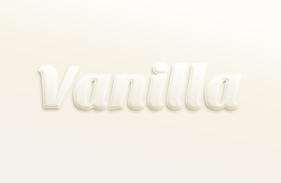 Vanilla Text Effect Psd File