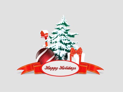 Christmas happy holidays vector element psd