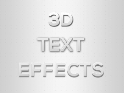 Photoshop 3D Text Effects