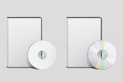 DVD cover psd layered material