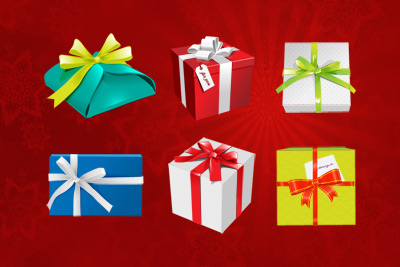 Holiday Gift Boxes Psd File