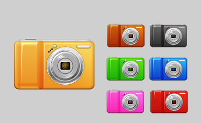 7 Free PSD Camera Vector Graphics