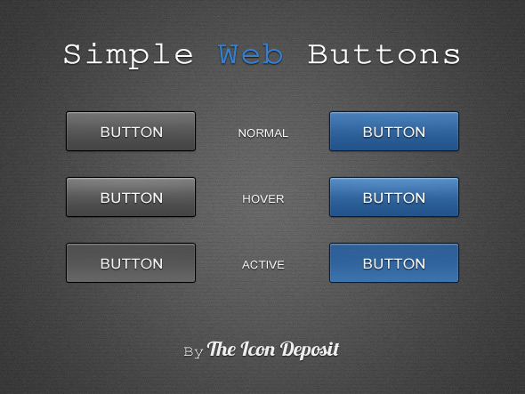 Simple Vertor Web Buttons