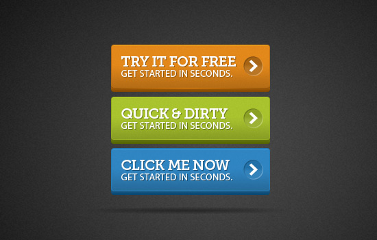 Bright 3D Buttons Psd