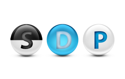 Glossy spheres psd material